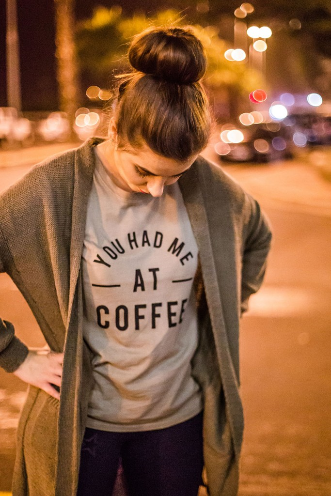 always anne fashion blog coffee shirt